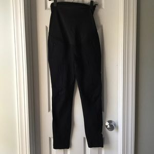 Black maternity dress pants